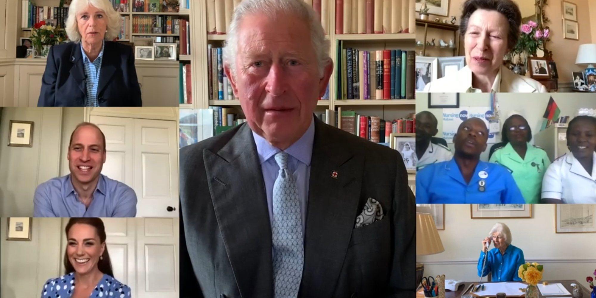 La videollamada de la Familia Real Británica para agradecer su labor a los sanitarios en la lucha contra el coronavirus