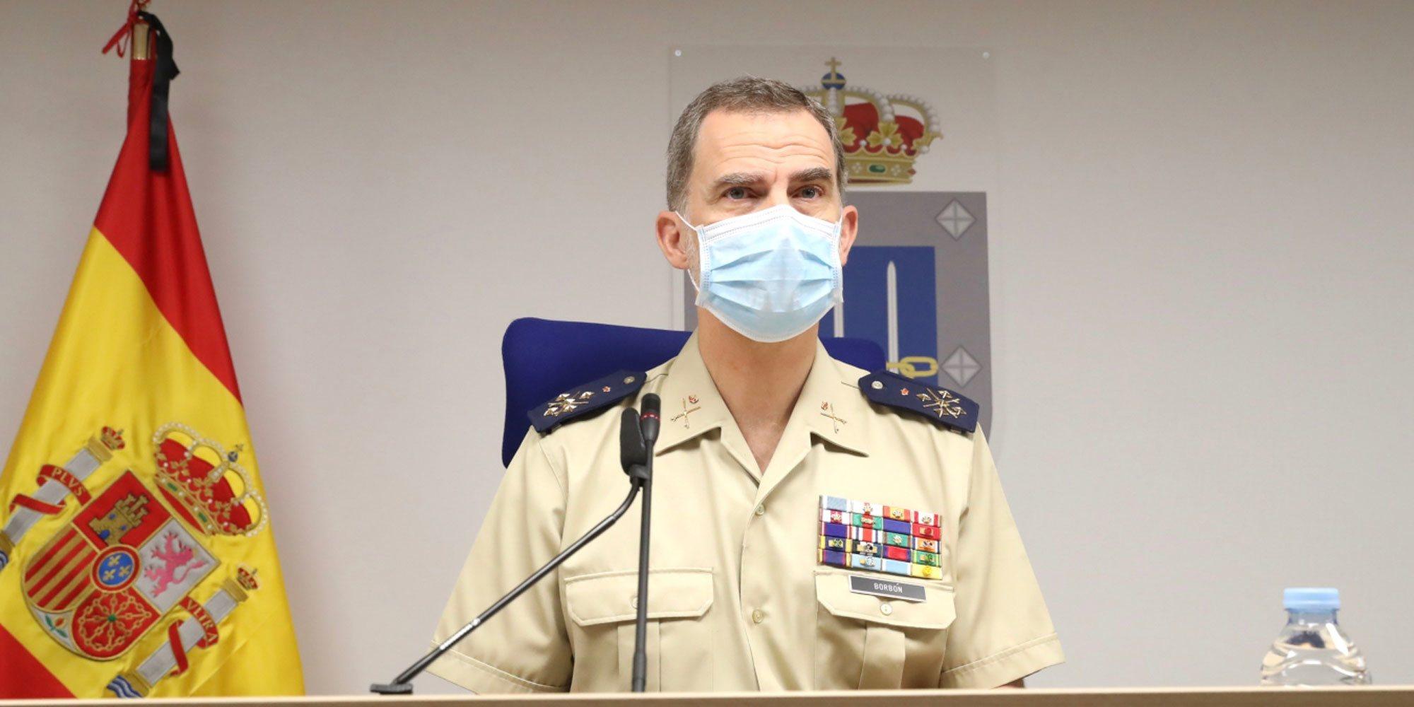 El Rey Felipe celebra un atípico Día de las Fuerzas Armadas