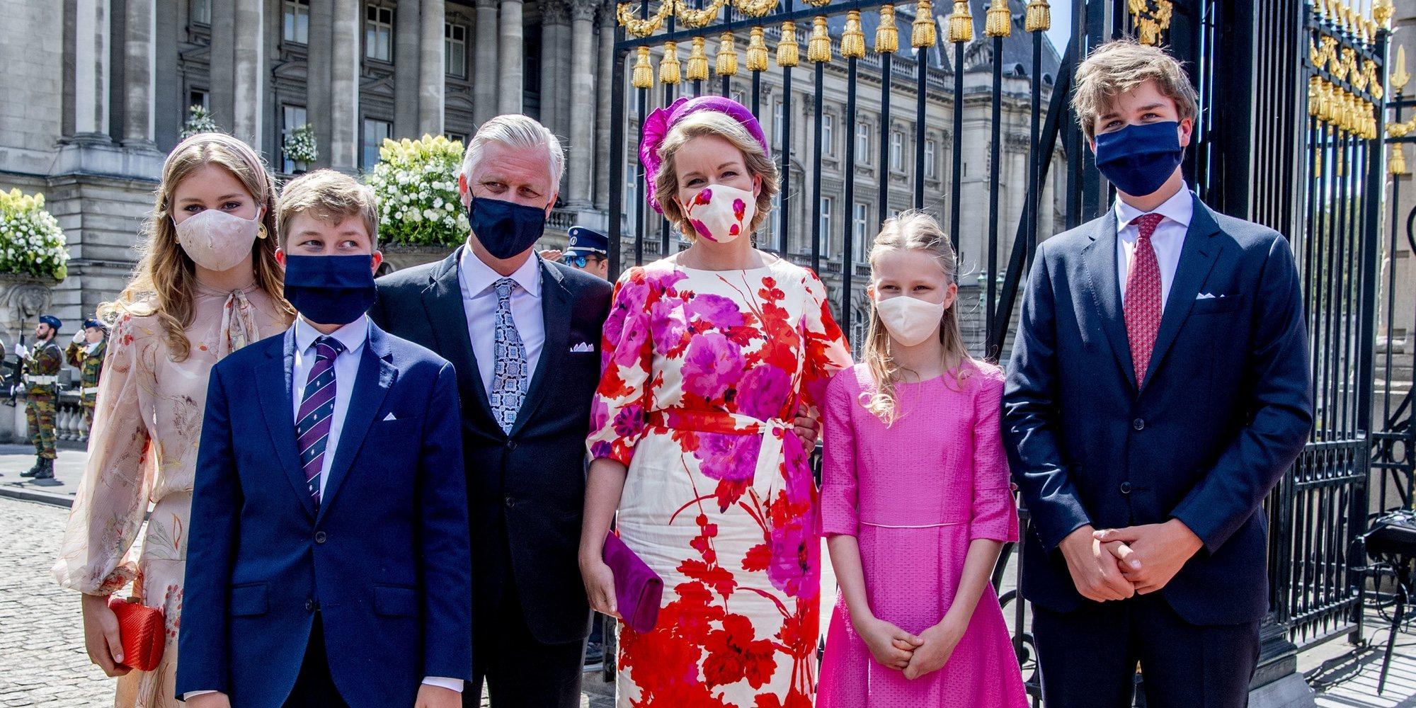 Los Reyes Felipe y Matilde de Bélgica dan normalidad a un atípico Día Nacional de Bélgica 2020