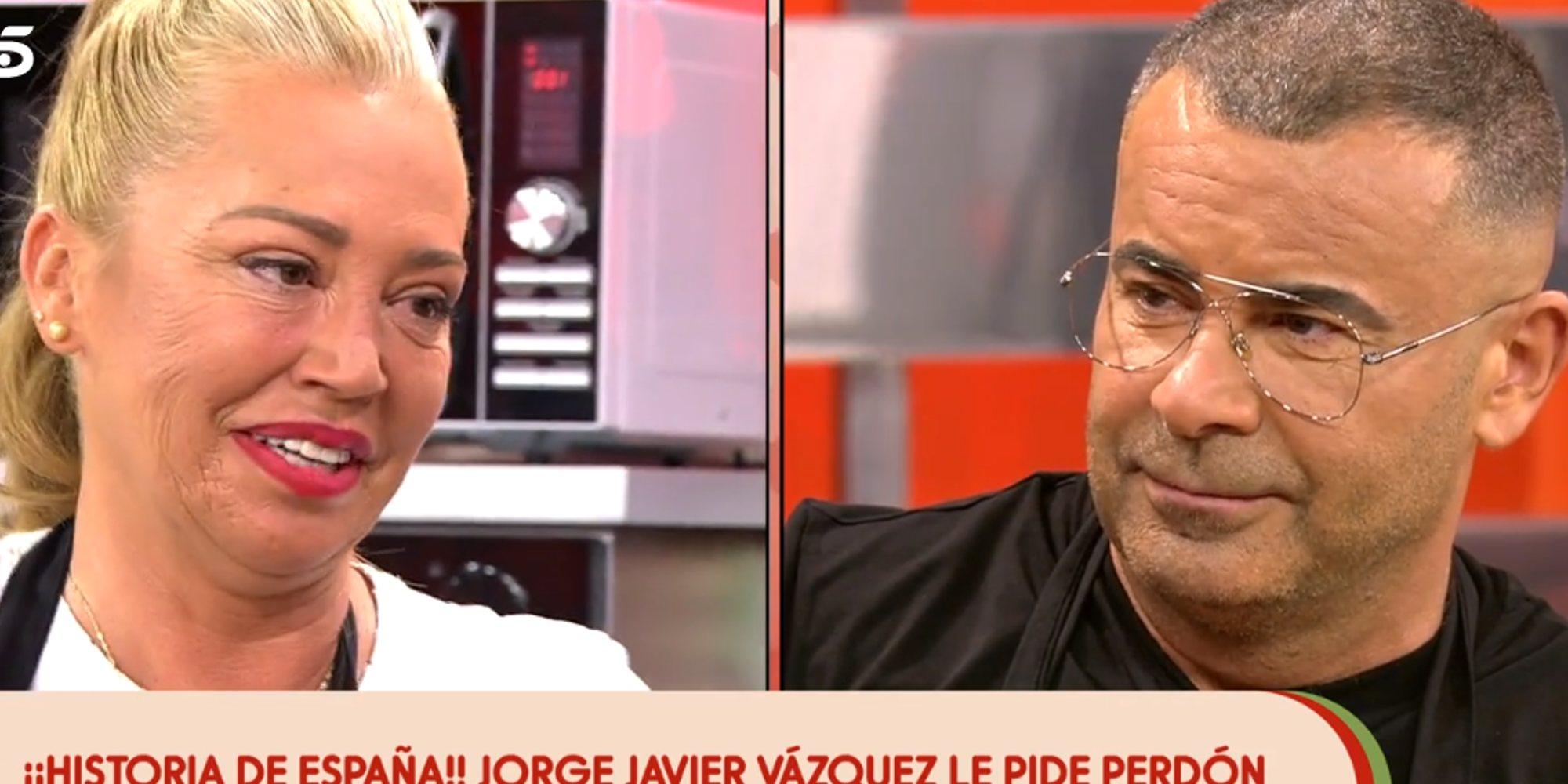 """El perdón más esperado de Jorge Javier Vázquez a Belén Esteban: """"Aquel sábado no quise despreciarte"""""""