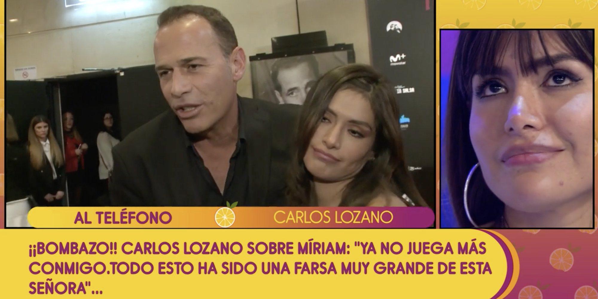 """Carlos Lozano estalla contra Miriam Saavedra: """"Eres una malagradecida y has jugado con todos"""""""