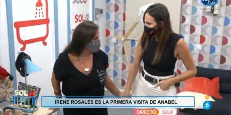 """Irene Rosales visita a Anabel Pantoja en 'Sola' para levantarle el ánimo: """"Esto es un trabajo, aguanta"""""""
