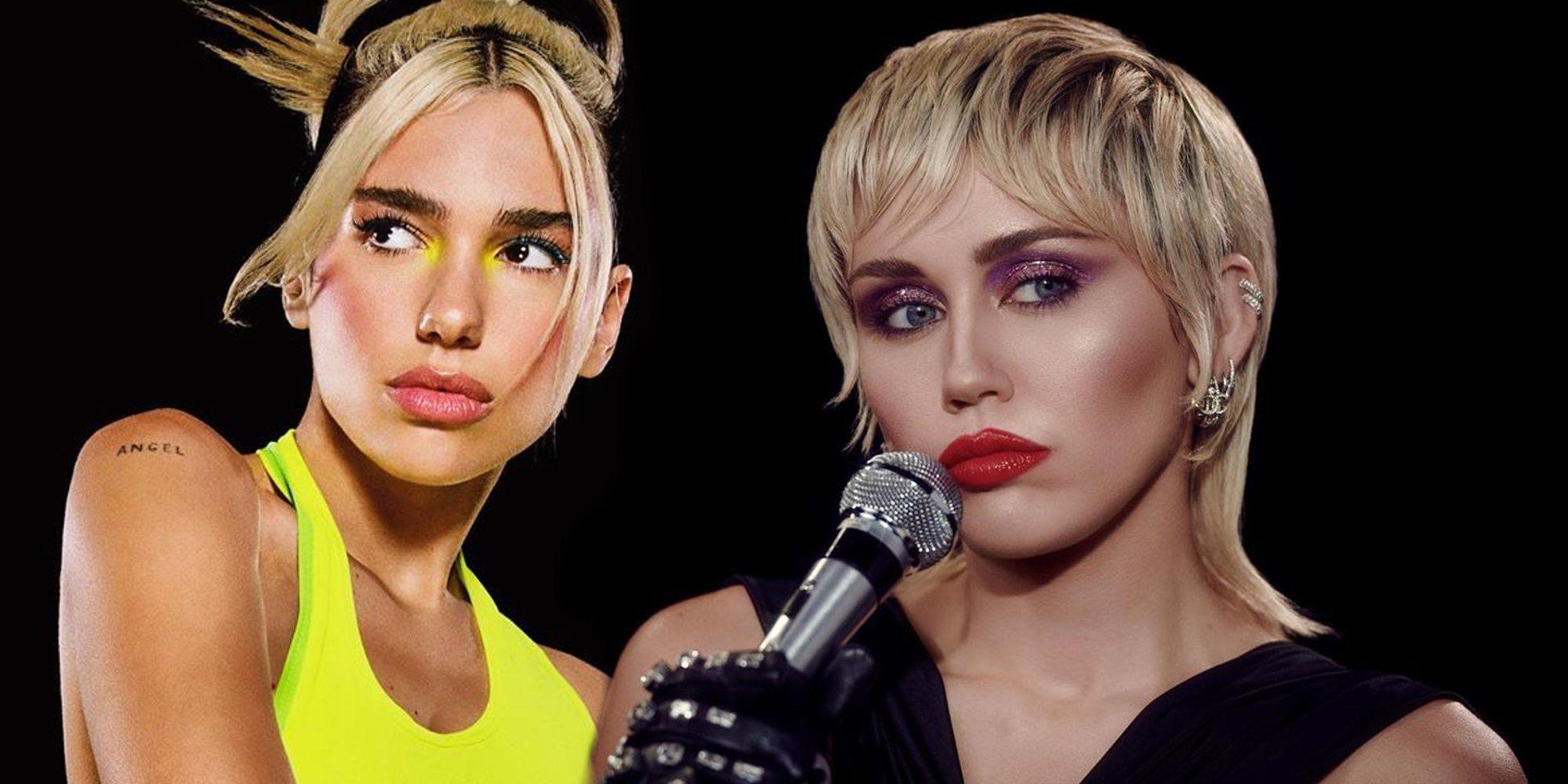 Miley Cyrus y Dua Lipa ruedan en Nueva York el videoclip de su próxima colaboración