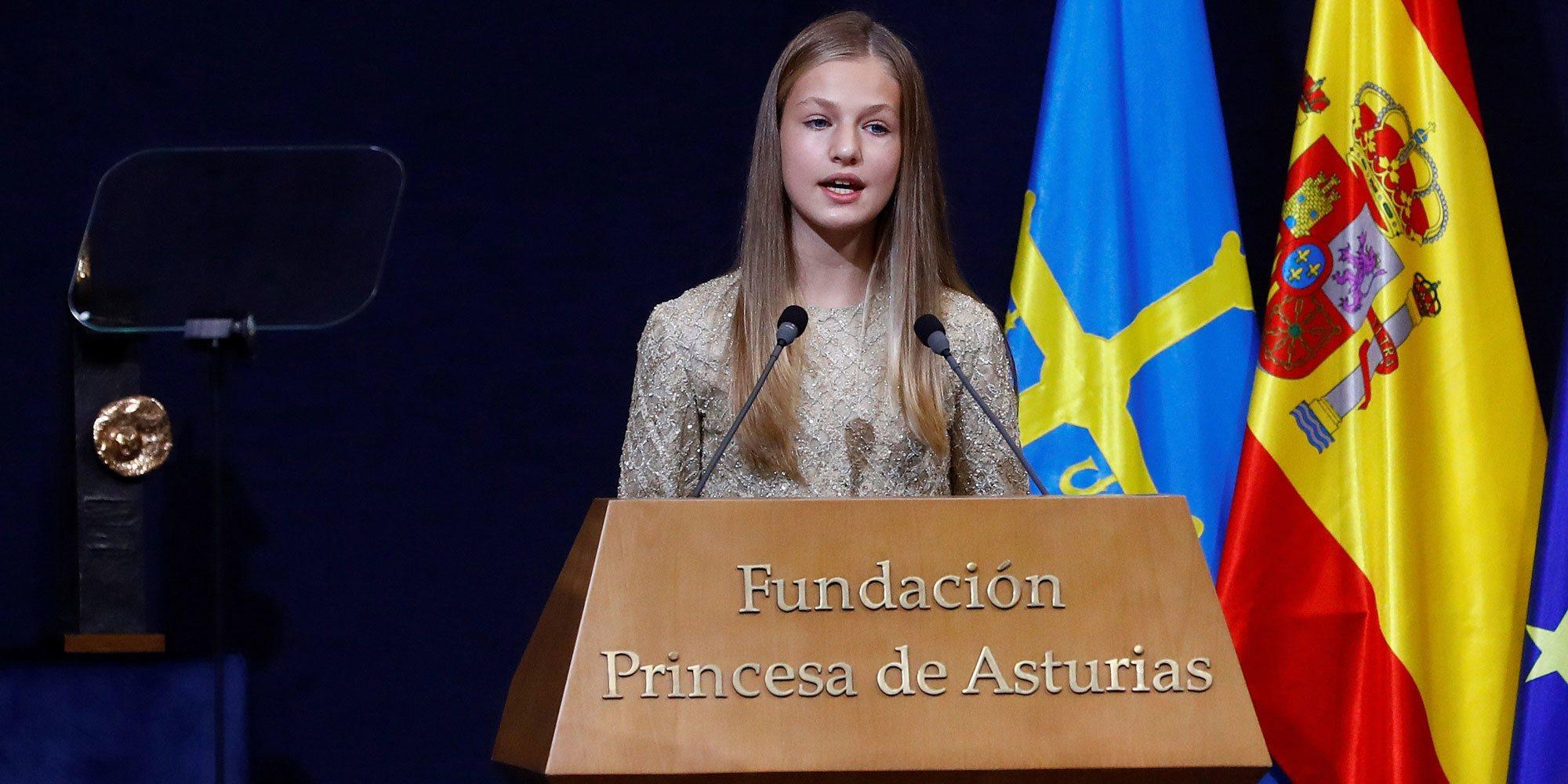 El discurso de la Princesa Leonor en los Premios Princesa de Asturias 2020: pandemia y referencias familiares