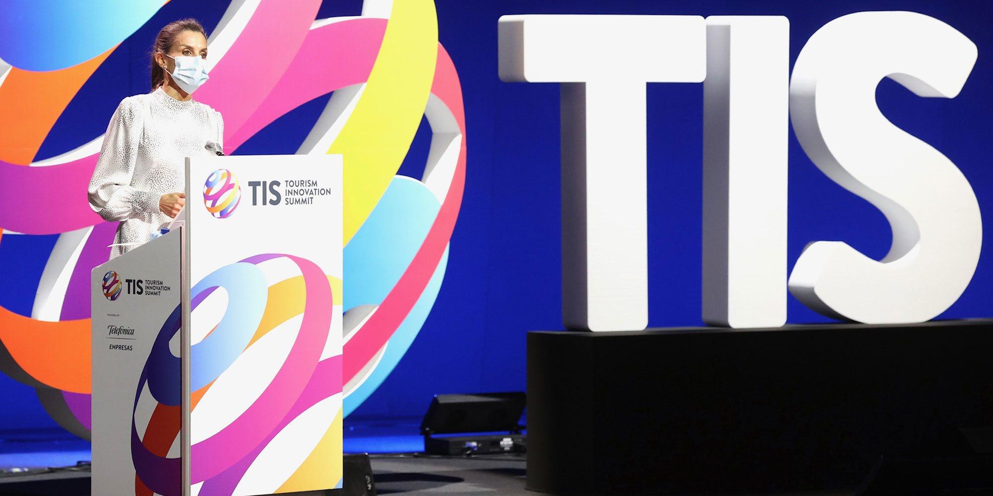 Las palabras de la Reina Letizia en el Tourism Innovation Summit: recuerdo a Felipe VI, perfecto inglés y un toque espontáneo
