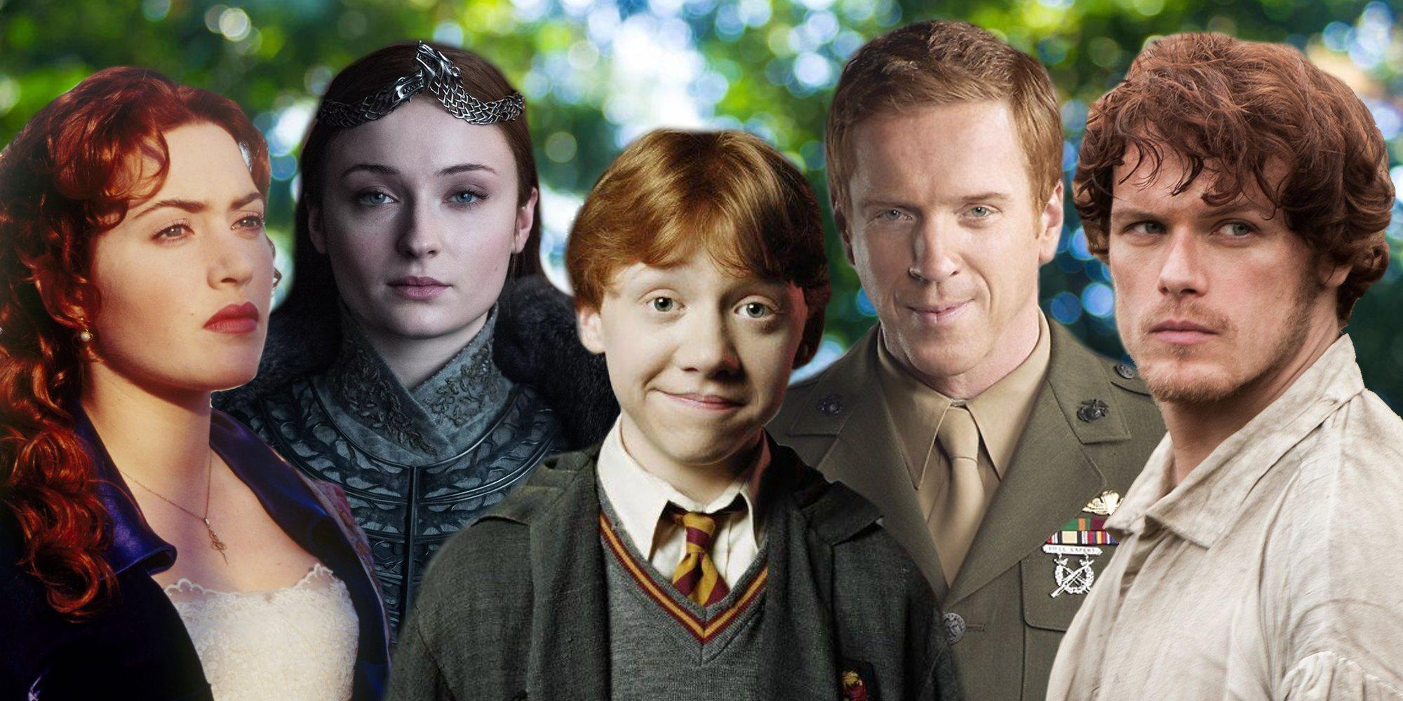 Ron Weasley, Jamie Fraser, Sansa Stark... Los personajes pelirrojos más famosos de la ficción