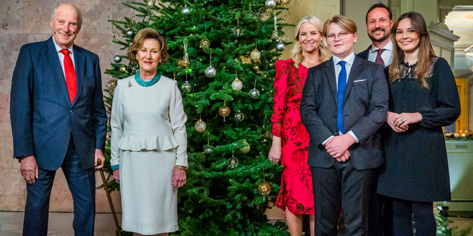 El posado navideño de la Familia Real Noruega tras el protagonismo de Ingrid Alexandra en la ceremonia de Adviento