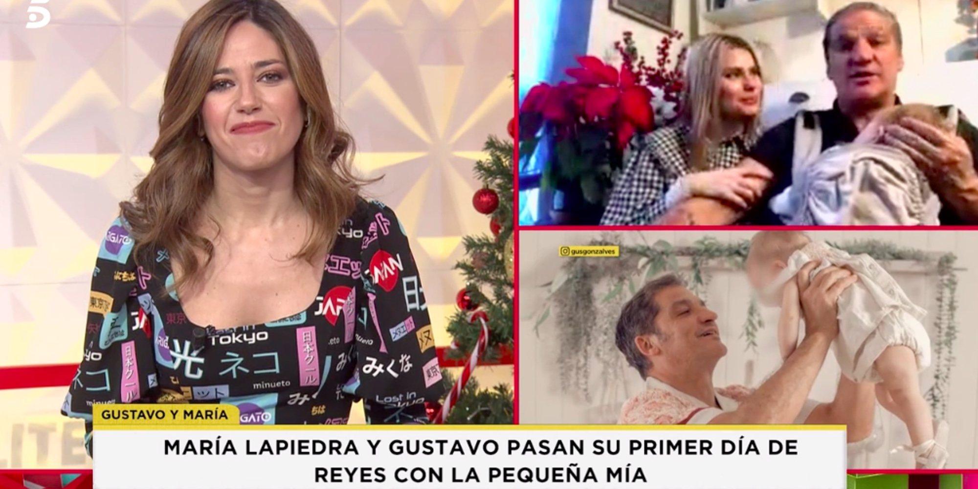 Así pasaron Gustavo González y María Lapiedra las primeras Navidades con su hija