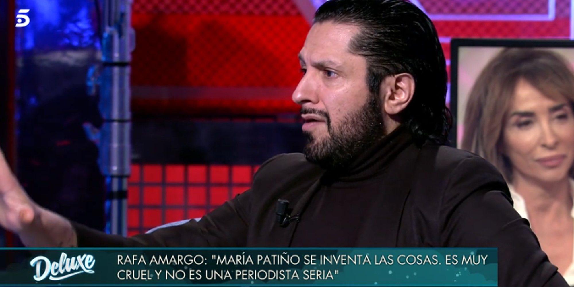 """Rafael Amargo vuelve a atacar a María Patiño: """"Es maquiavélica y la que mueve los hilos"""""""