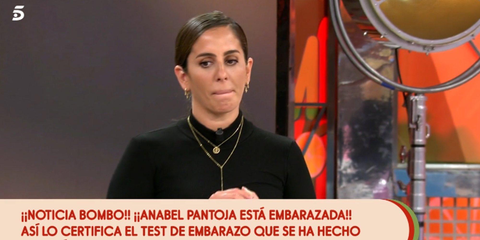 Anabel Pantoja se hace un test de embarazo en directo en 'Sálvame' y da positivo