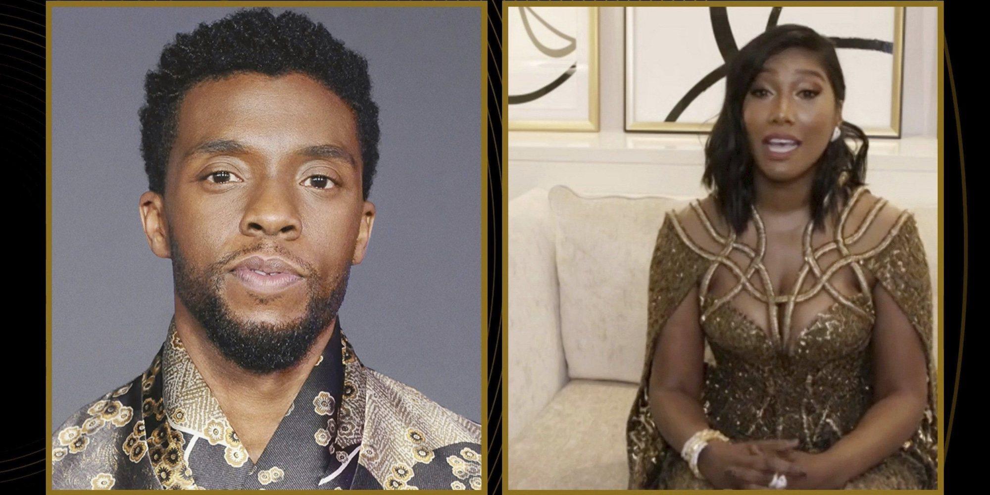 El emotivo discurso de la viuda de Chadwick Boseman al recoger su galardón póstumo en los Globos de Oro 2021