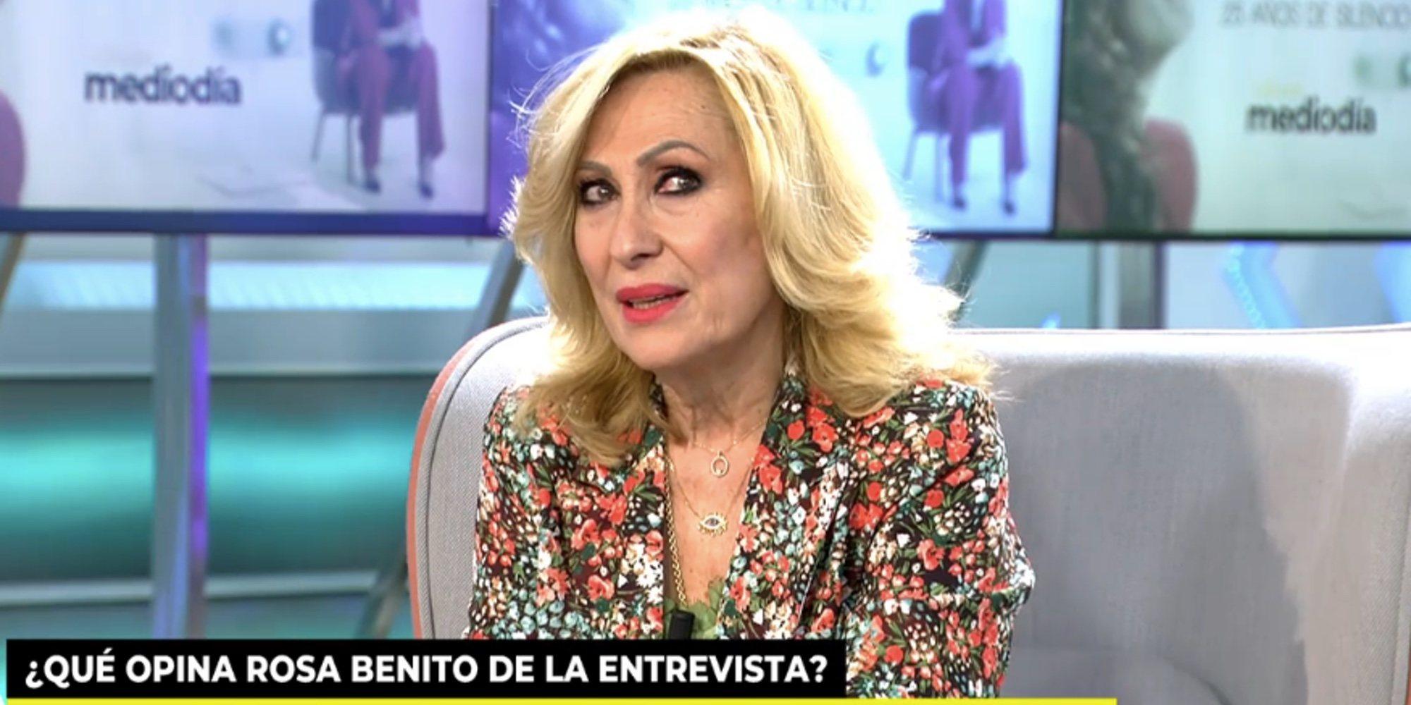 """Rosa Benito, tras la docu-serie de Rocío Carrasco: """"Me vi en su piel. Yo también intenté dormir por el dolor"""""""