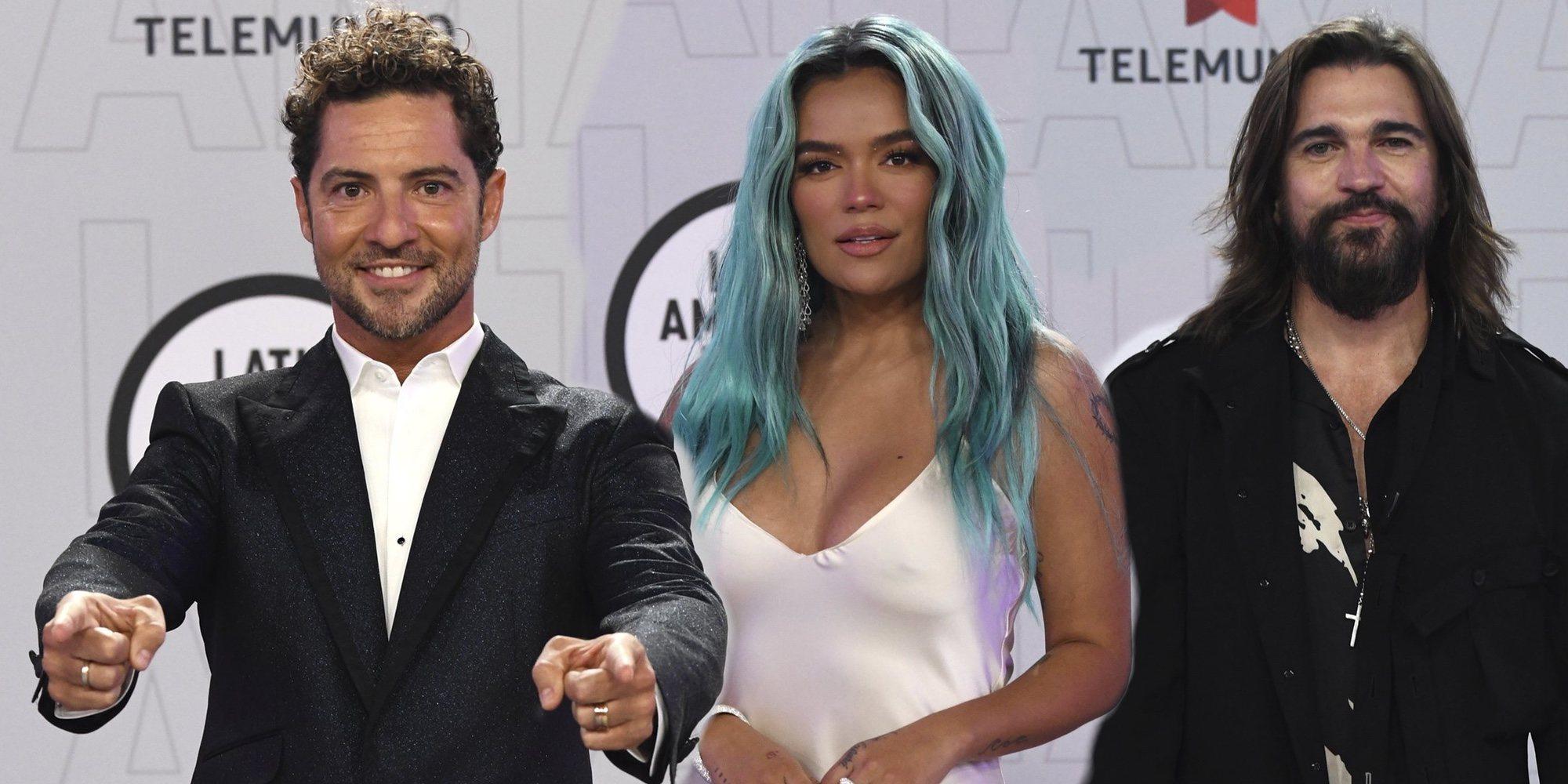 David Bisbal, Karol G, Juanes... Grandes artistas protagonizan la alfombra roja y la gala de los Latin AMAs 2021