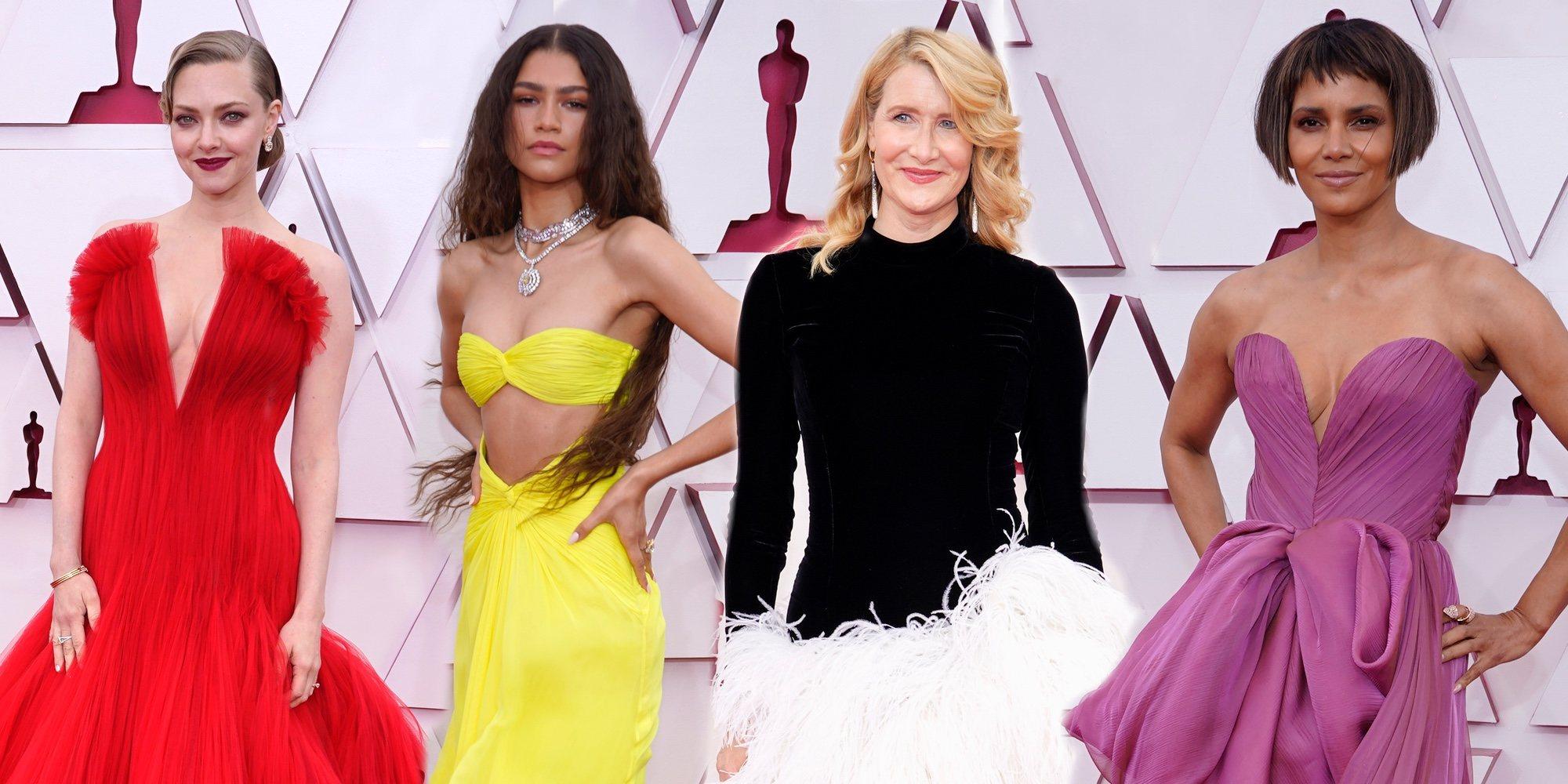 Muy colorida y sin mascarillas: Así ha sido la alfombra roja de los Premios Oscar 2021 que recuerda a las pre-covid