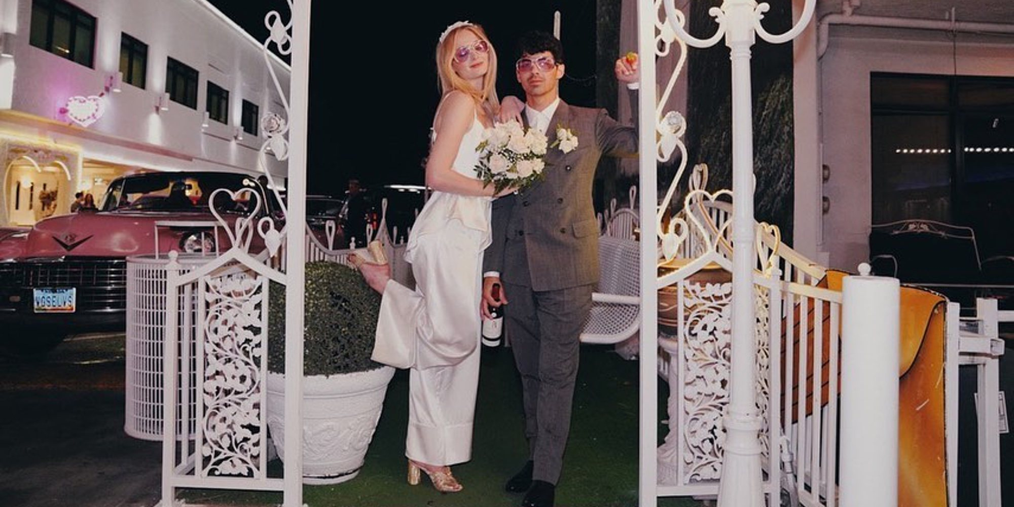Joe Jonas y Sophie Turner celebran su segundo aniversario con fotos inéditas de la boda en Las Vegas