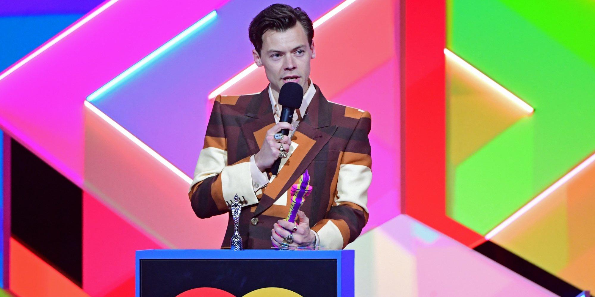 El acento americano de Harry Styles al recoger su premio, la anécdota de los Brit Awards 2021