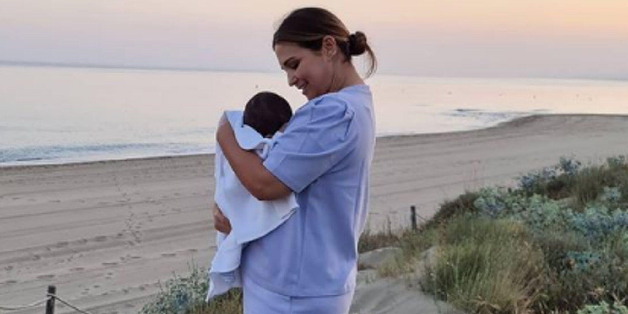 Paula Echevarría comparte la primera vez de su hijo Miguel en el mar