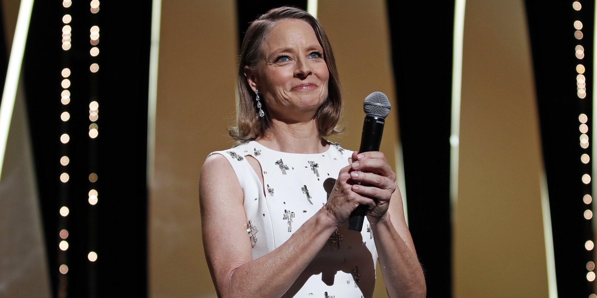 Jodie Foster, muy emocionada tras recibir su Palma de Oro de Honor en el Festival de Cannes 2021