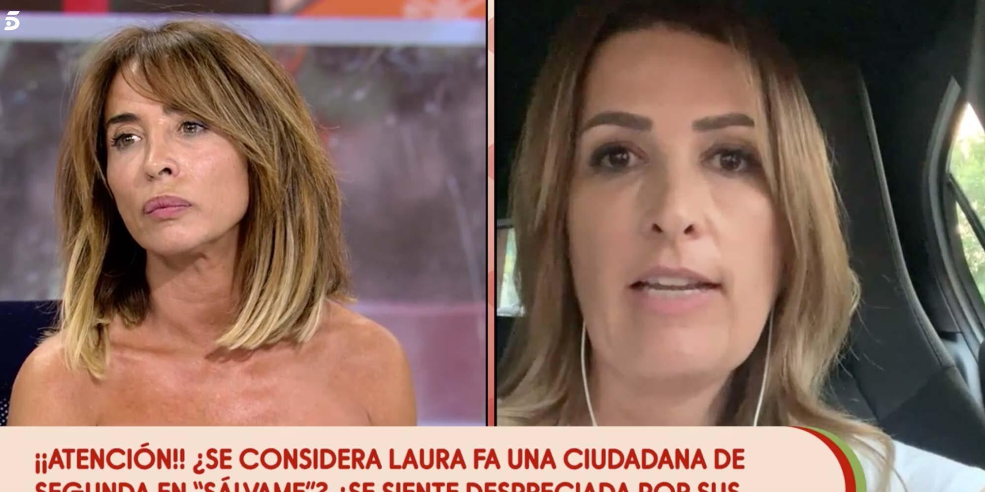 """María Patiño arremete contra Laura Fa: """"¡No soy una mujer que defienda a los maltratadores, no lo soy!"""""""