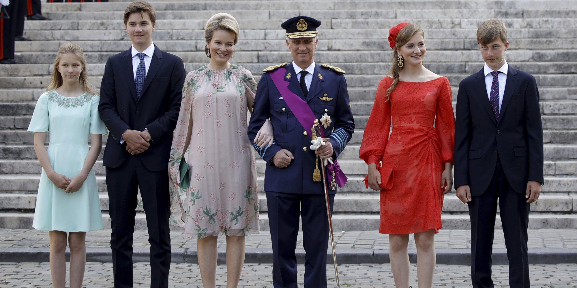 Felipe y Matilde de Bélgica y sus hijos recuperan la sonrisa en el Día Nacional de Bélgica 2021