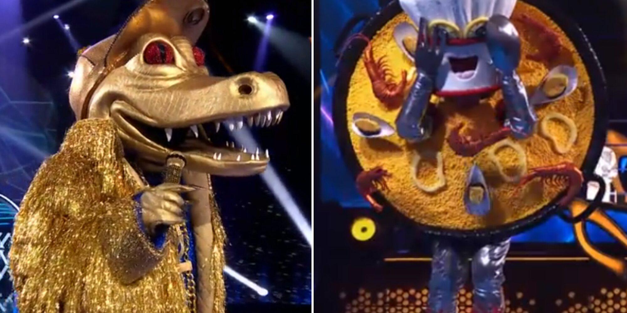Bertín Osborne y Ainhoa Arteta, bajo las máscaras de Cocodrilo y Paella en 'Mask Singer'