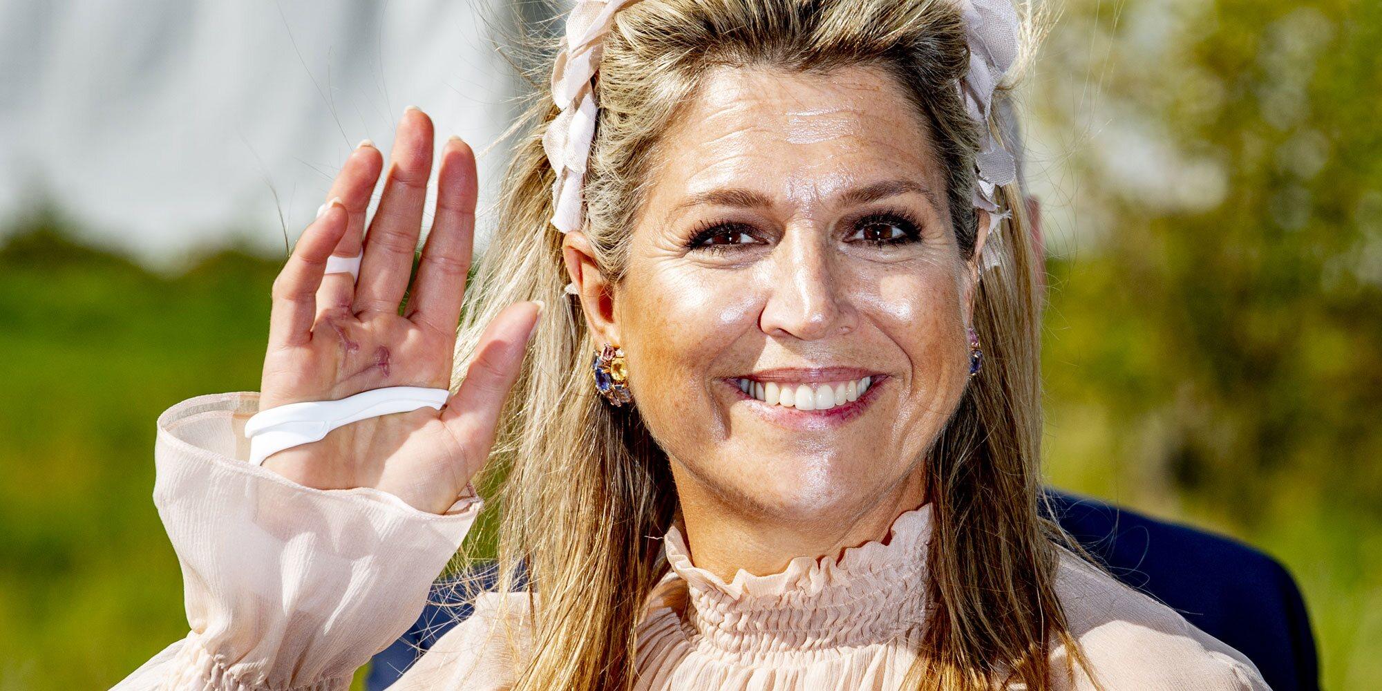 El motivo por el que Máxima de Holanda tiene la mano vendada