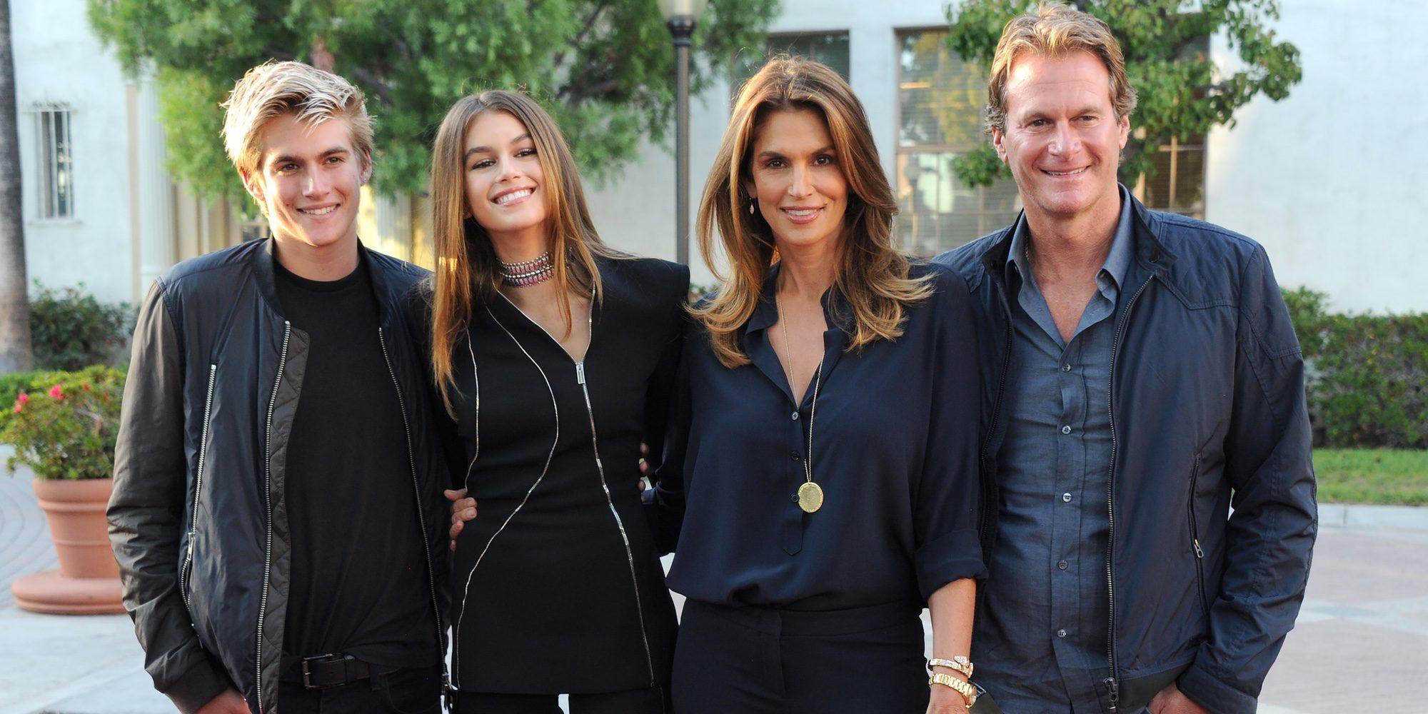 Cindy Crawford, Rande Gerber y sus hijos Presley y Kaia Gerber: una familia de guapos de estreno