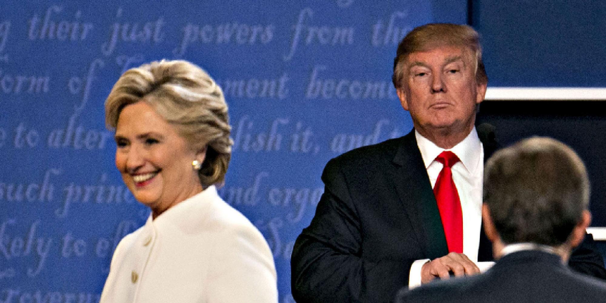 """Donald Trump a Hillary Clinton en el último debate presidencial: """"Qué mujer tan despreciable"""""""