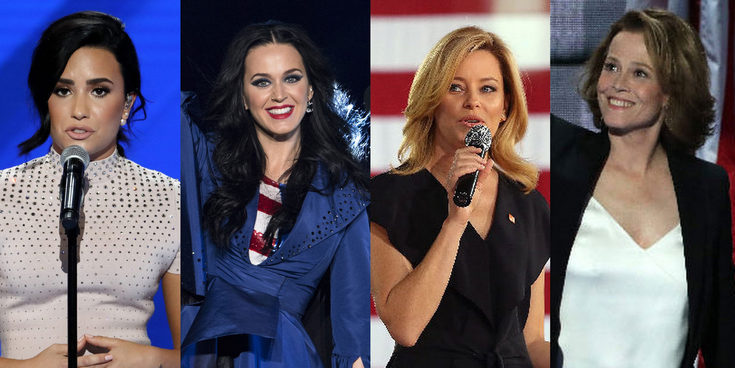 Katy Perry, Demi Lovato, Paulina Rubio, Meryl Streep,... las celebs que apoyan a Hillary Clinton