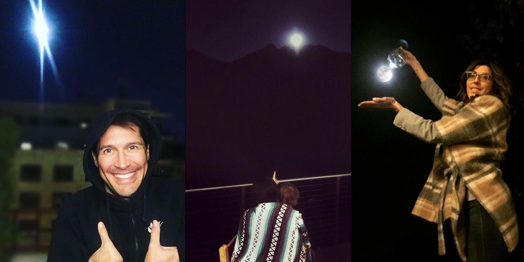 Jaime Cantizano, Raquel del Rosario y Paz Padilla captan la mágica Superluna