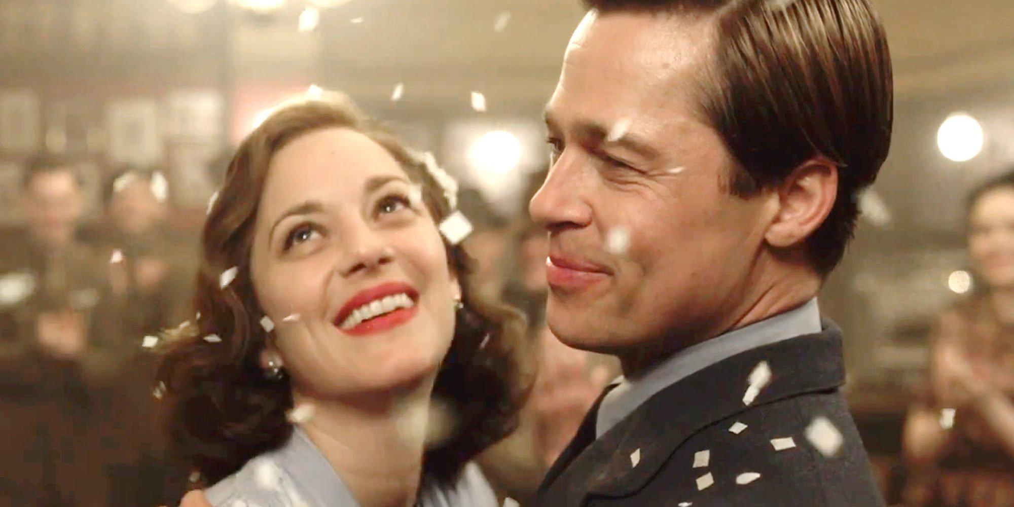 Brad Pitt y Marion Cotillard, muy enamorados y 'Aliados' contra 'La Reina de España'