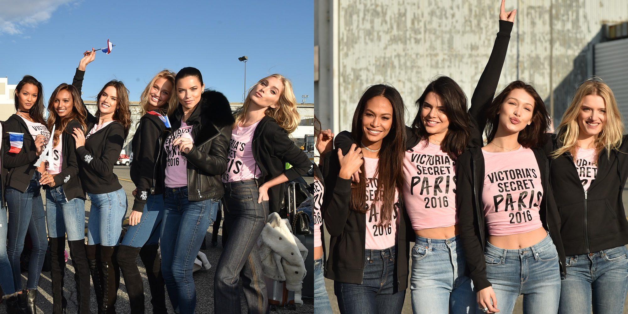 Bella Hadid, Kendall Jenner... Los ángeles de Victoria's Secret viajan a París para el desfile del año