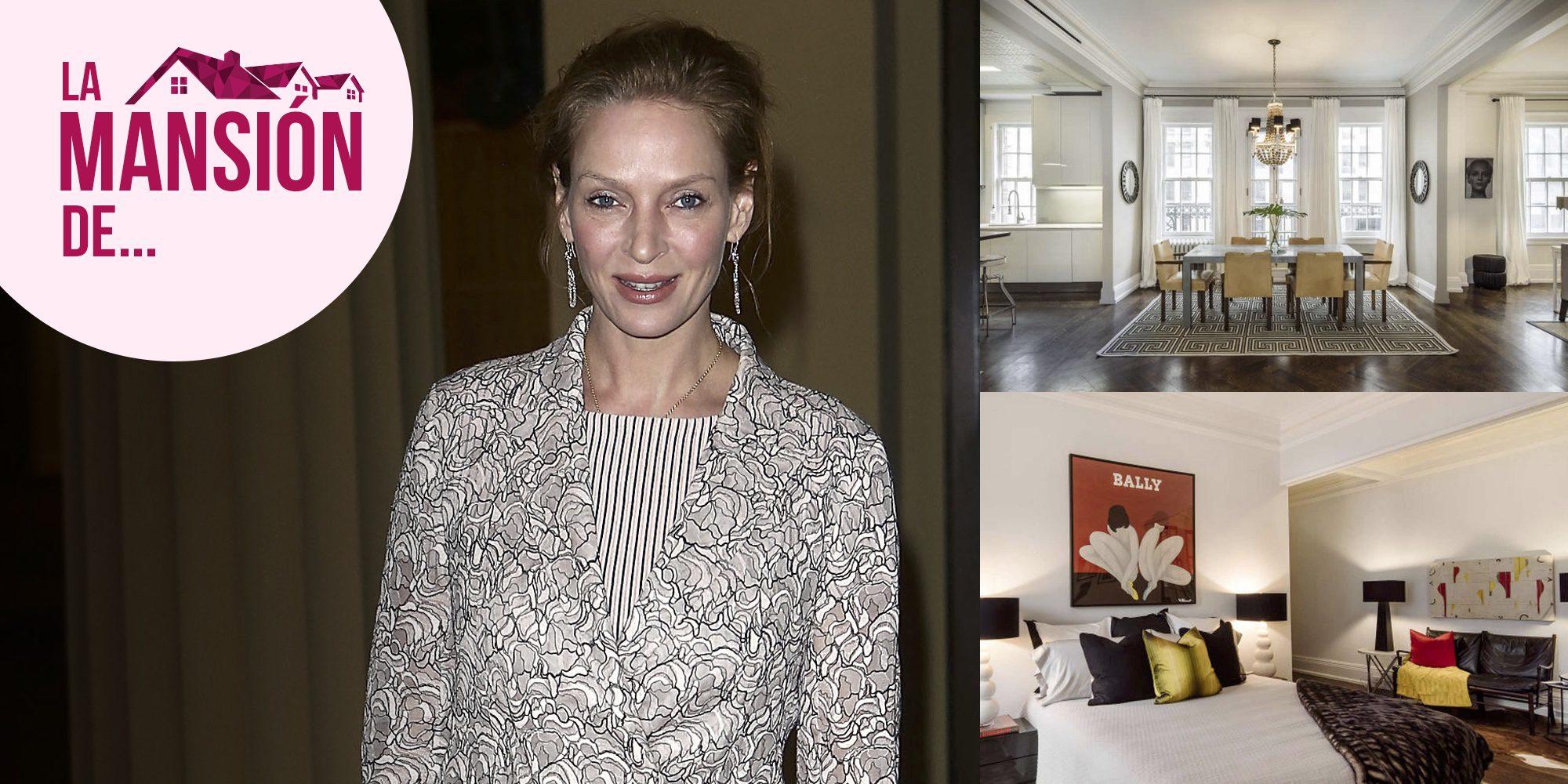 Un dúplex en las alturas: entramos en la lujosa casa de Uma Thurman en Nueva York