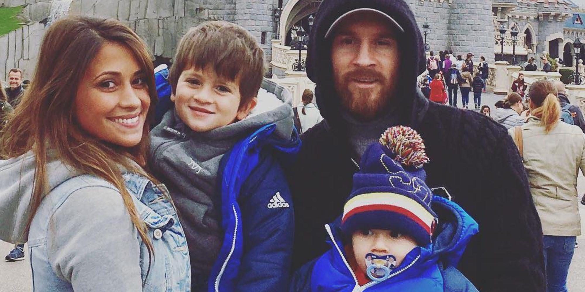 Leo Messi y Antonella Roccuzzo aprovecharon las vacaciones de Navidad para bautizar a sus hijos