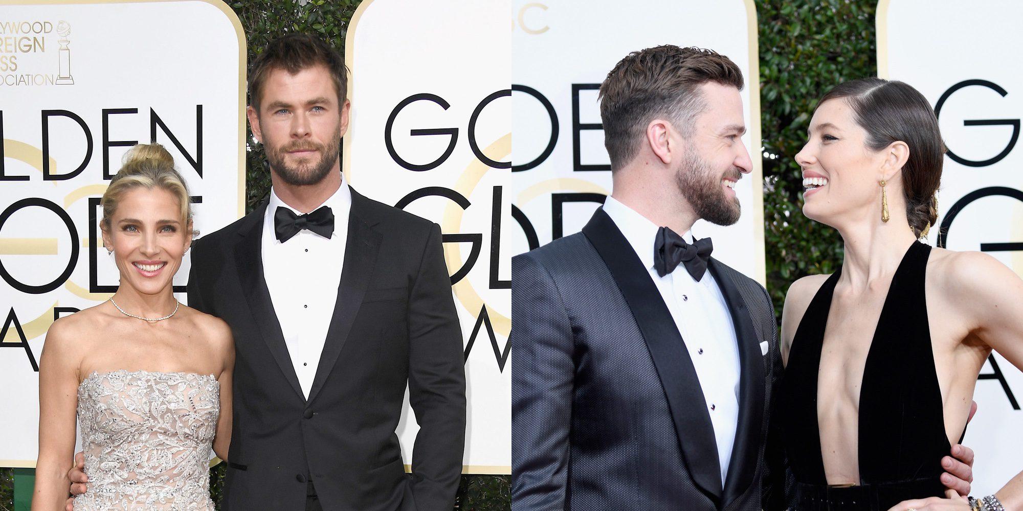 Justin Timberlake y Jessica Biel, Elsa Pataky y Chris Hemsworth,...: las parejas de los Globos de Oro 2017