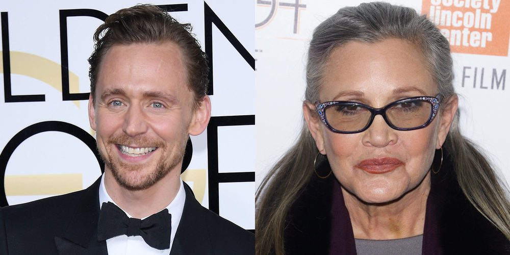 Tom Hiddleston rinde homenajea a Carrie Fisher en su discurso de los Globos de Oro 2017