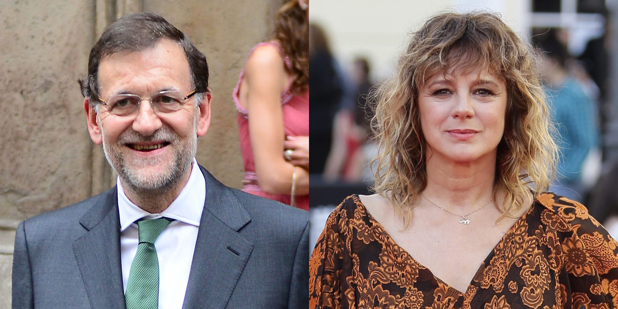 """Emma Suárez lanza un mensaje a Mariano Rajoy: """"Igual se siente identificado con 'El hombre de las mil caras'"""