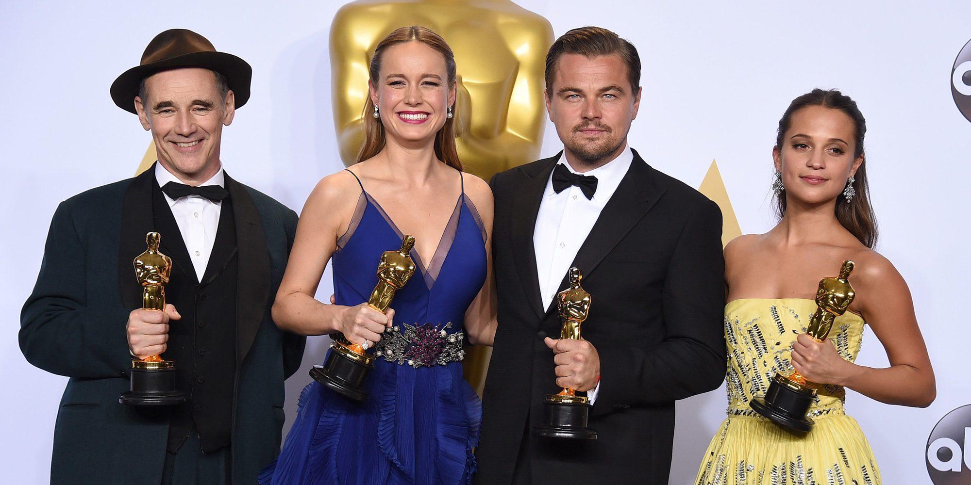 Leonardo DiCaprio, Alicia Vikander, Brie Larson y Mark Rylance entregarán los Premios Oscar 2017