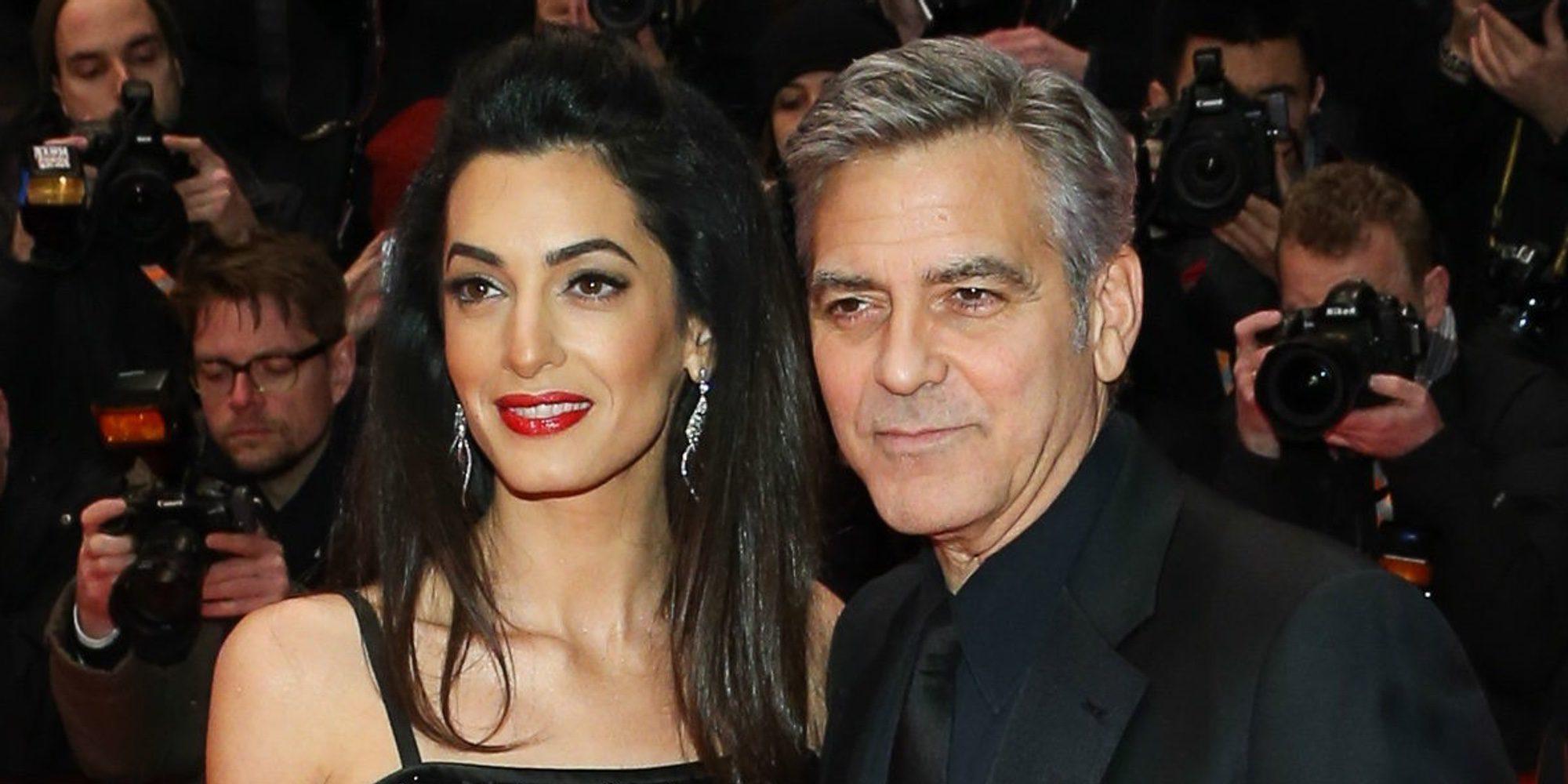 ¡Confirmado! George y Amal Clooney serán padres de gemelos en junio