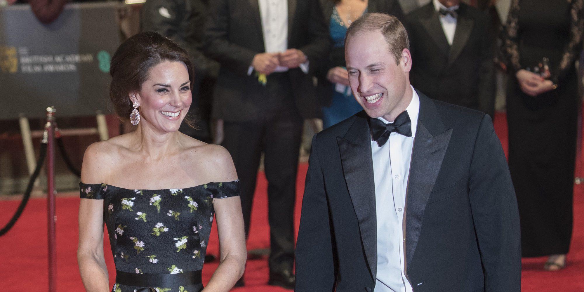 Guillermo de Inglaterra y Kate Middleton, dos estrellas de Hollywood en los Bafta 2017