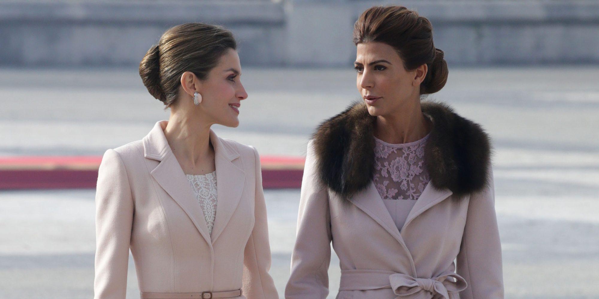 La Reina Letizia y Juliana Awada, como dos amigas en el inicio de la Visita de Estado del presidente de Argentina