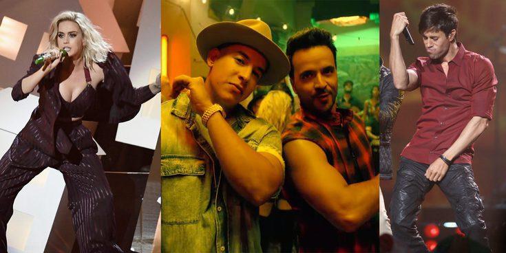 Katy Perry y Enrique Iglesias llegan a una lista de música liderada por Luis Fonsi y Daddy Yankee con 'Despacito'