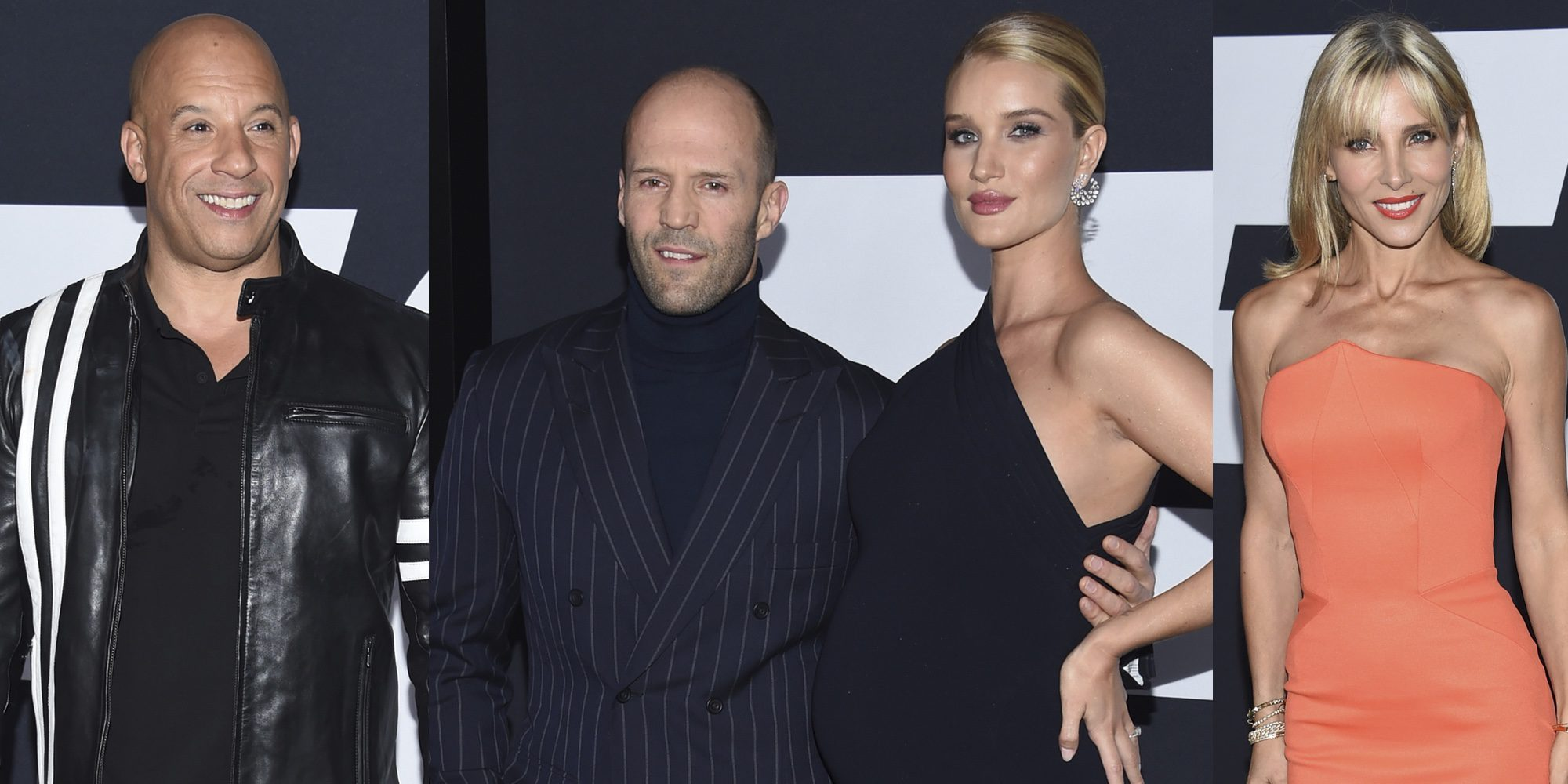 Elsa Pataky, Jason Statham y su chica o Vin Diesel brillan en la Premiere de 'Fast & Furious 8'