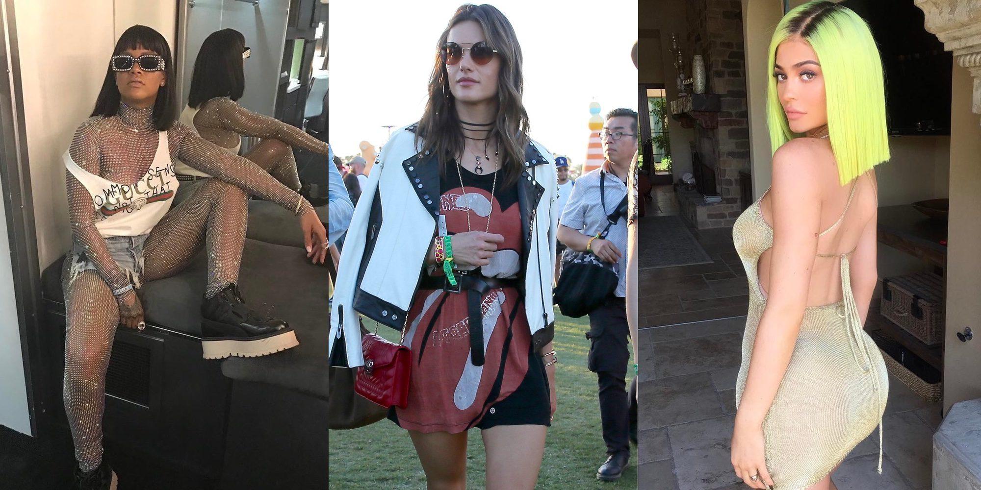Rihanna, Alessandra Ambrosio o Kylie Jenner disfrutan del Coachella, el festival más VIP del año
