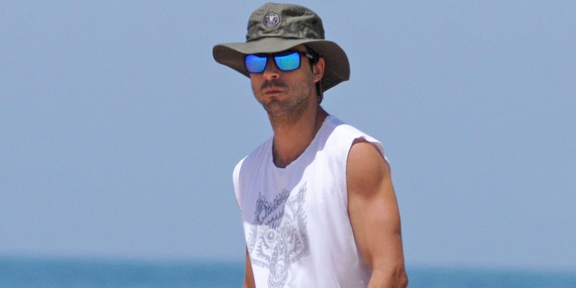 Hugo Silva, de musculado a fofisano: así luce barriguita en la playa