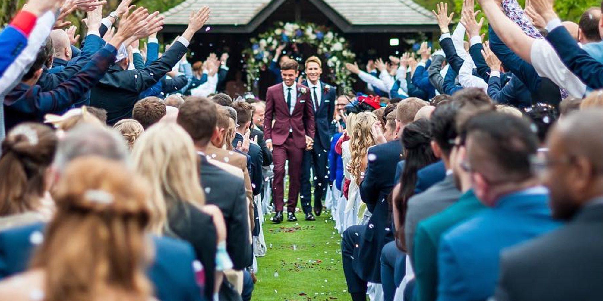 Así fue la boda de ensueño de Tom Daley y Dustin Lance Black en Inglaterra