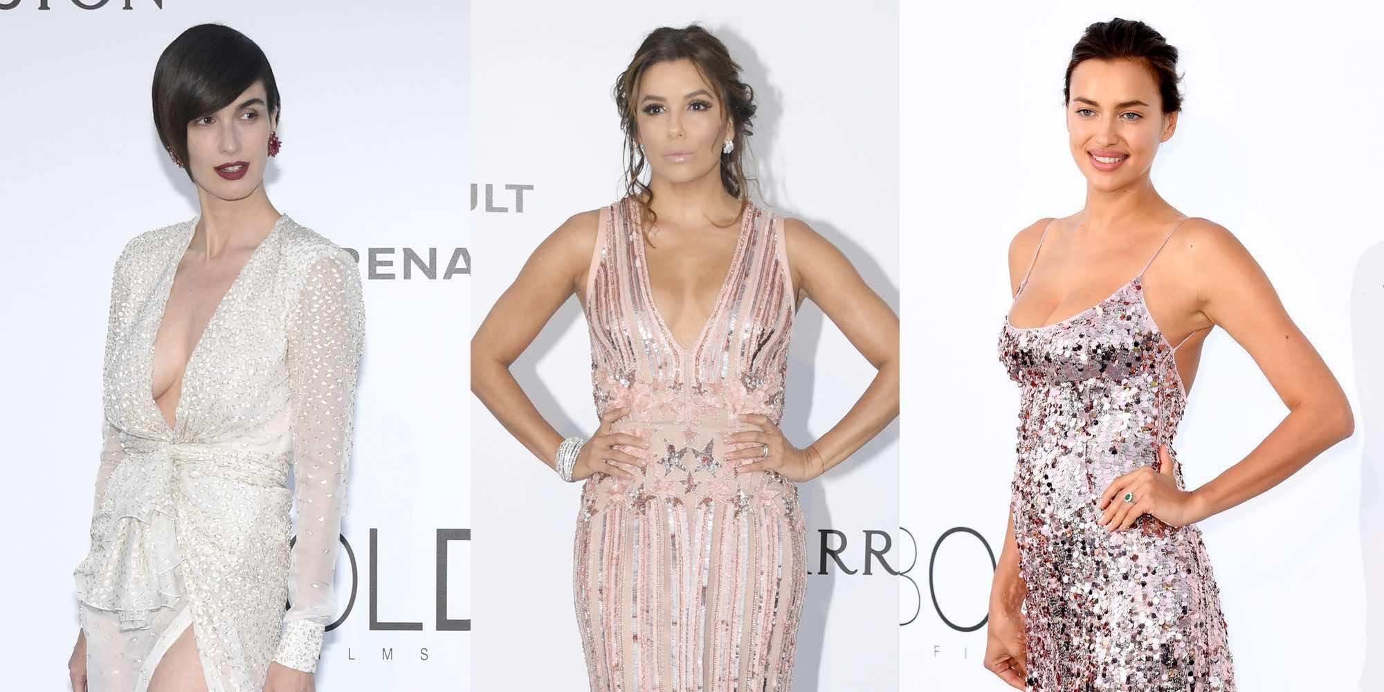 Irina Shayk, Gigi Hadid, Paz Vega y Eva Longoria, guerra de brillos en la Gala amfAR de Cannes 2017