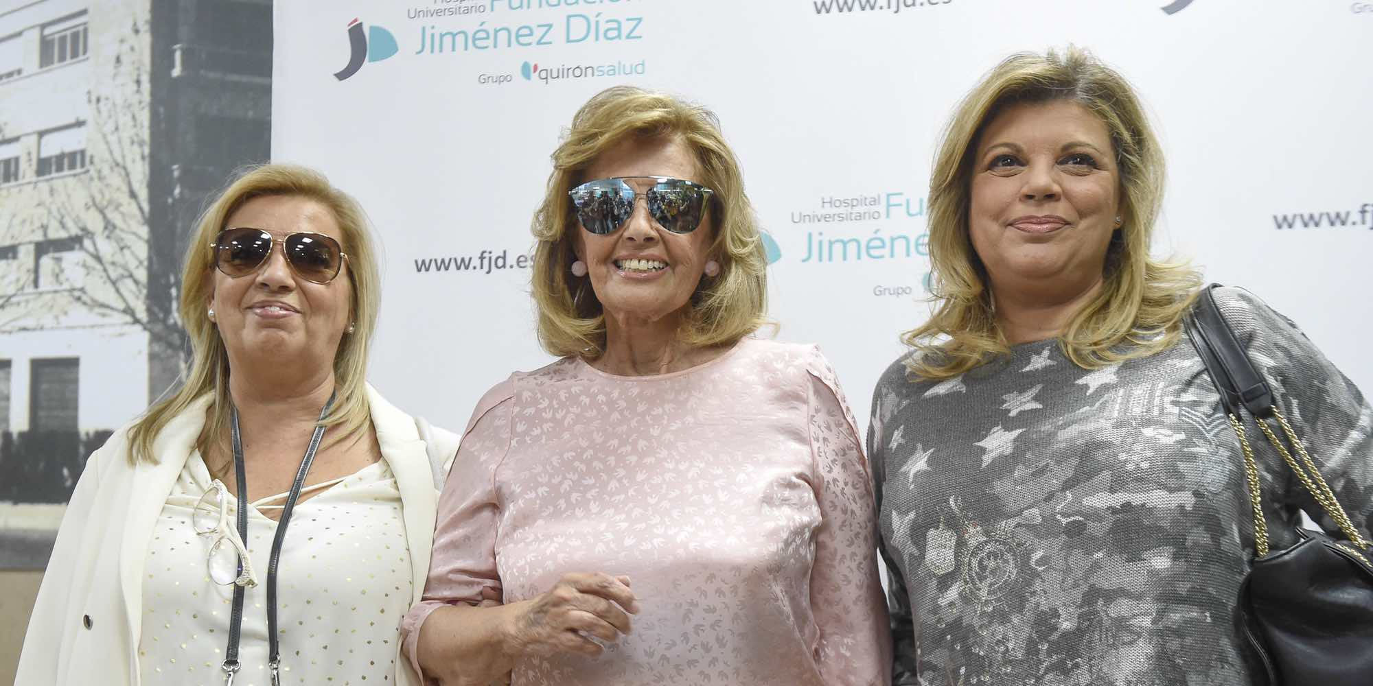 María Teresa Campos percibe una leve mejoría en su visión dos semanas después del ictus