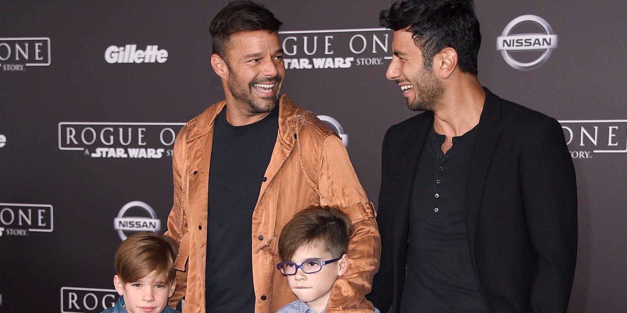 Ricky Martin disfruta en las playas de Mallorca con sus hijos y su novio Jwan Yosef