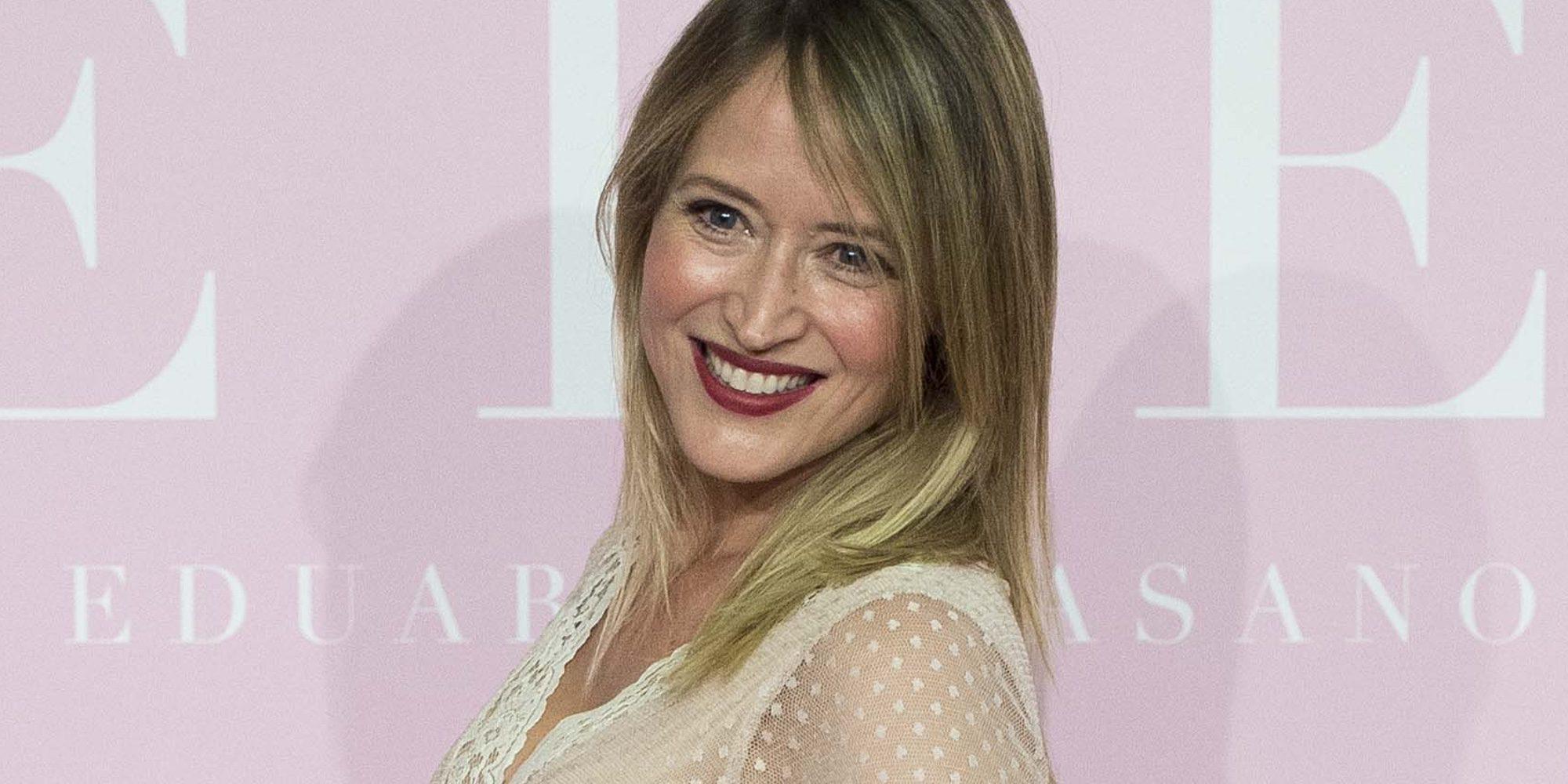 Marta Larralde, espectacular presumiendo de embarazo en el estreno de 'Pieles'